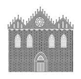 Gotische stijlarchitectuur Stock Afbeeldingen