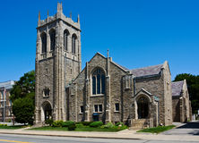 Gotische stijlkerk Royalty-vrije Stock Afbeeldingen