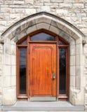 Gotische Tür Stockfoto