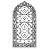 Gotische Vensters Uitstekende kaders Stained-glass van de kerk vensters Royalty-vrije Stock Afbeeldingen