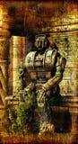 Gotische verlaten robot Stock Foto's