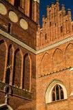 Gotische vernieuwde kathedraal St John Church in Gdansk, Polen dicht omhoog Royalty-vrije Stock Foto