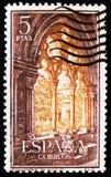 Gotischer Bogen, Cistercian Kloster von Santa Maria de Poblet, circa 1963 Lizenzfreies Stockbild
