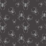 Gotischer Hintergrund des nahtlosen Musters der Spinne Stockbild
