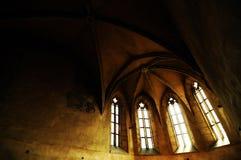 Gotischer Innenraum in Transylvanian-Kapelle Stockbild