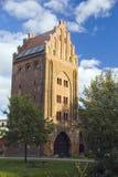 Gotischer Kontrollturm. Lizenzfreies Stockbild