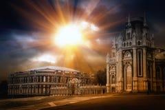 Gotischer Palast stockfoto
