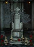 Gotischer Thron Stockfotografie