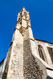 Gotischer Turm von Clarissine-Kirche in Bratislava Stockbild