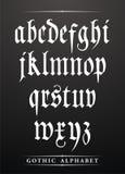 Gotisches Alphabet Stockfotografie