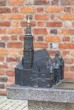 Gotisches altes Rathaus Breslaus auf dem Marktplatz, Miniatur für die Vorhänge, Breslau, Polen Lizenzfreies Stockbild