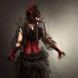 Gotisches Art-Modell Girl Portrait Stockfoto