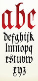Gotisches Gussalphabet des Vektors Lizenzfreie Stockbilder
