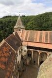 Gotisches Jagdkrivoklat vom 12. Jahrhundert ist eins der ältesten und bedeutendsten Schlösser tschechischen Prinzen und der König Stockfoto