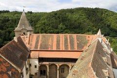 Gotisches Jagdkrivoklat vom 12. Jahrhundert ist eins der ältesten und bedeutendsten Schlösser tschechischen Prinzen und der König Stockbild