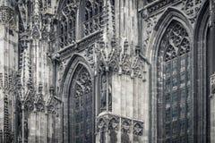 Gotisches Kathedraledetail Stockfotos