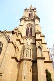 Gotisches Kirchegebäude Stockfotografie