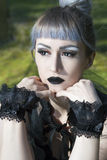 Gotisches lolita Porträt Lizenzfreie Stockfotos
