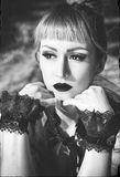 Gotisches lolita Porträt Lizenzfreies Stockbild