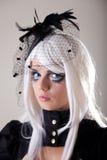 Gotisches Mädchen mit kreativer Verfassung Lizenzfreies Stockbild