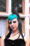 Gotisches Mädchenportrait Lizenzfreie Stockfotografie