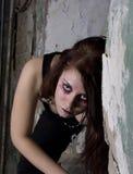 Gotisches Make-up lizenzfreie stockbilder