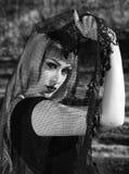 Gotisches Mädchen mit Schleier Lizenzfreies Stockbild