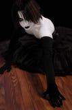 Gotisches Pantomime-Mädchen Stockbilder