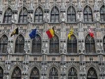 Gotisches Rathaus. Stockfoto