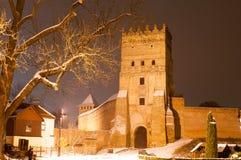 Gotisches Schloss in Lutsk Stockfotos