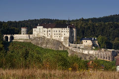 Gotisches Schloss - tschechisches Sternberk stockbild