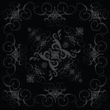 Gotisches Schwarzes 2 der Blumenfliese Stockfotografie