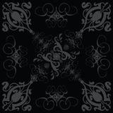 Gotisches Schwarzes 3 der Blumenfliese Stockbild