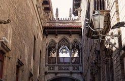 Gotisches Viertel in Barcelona Lizenzfreies Stockbild
