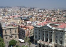 Gotisches Viertel, Barcelona stockbild