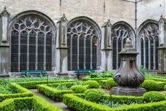 Gotisk abbay kloster Royaltyfri Bild