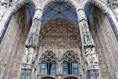 Gotisk arkitektur - detaljer Royaltyfri Bild