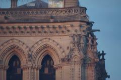 Gotisk arkitektur - Paris - Frankrike Royaltyfria Foton