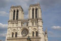 Gotisk arkitektur - Paris - Frankrike Arkivfoton