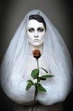 gotisk brud Fotografering för Bildbyråer