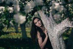 Gotisk brunett Royaltyfria Bilder