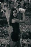Gotisk brunett Royaltyfri Fotografi
