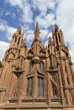 Gotisk domkyrka för röd tegelsten Royaltyfri Foto
