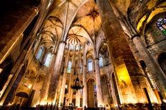 Gotisk domkyrka i Barcelona Royaltyfri Bild