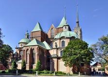 Gotisk domkyrka i wroclawen, Polen Fotografering för Bildbyråer