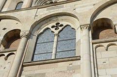 Gotisk fönsterUnesco Royaltyfri Bild