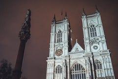Gotisk fasad av den Westminster abbotskloster Arkivbild