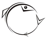gotisk fisk Royaltyfri Bild