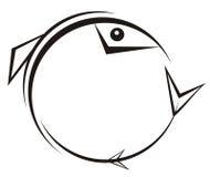 gotisk fisk royaltyfri illustrationer