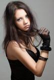 Gotisk flicka royaltyfri fotografi